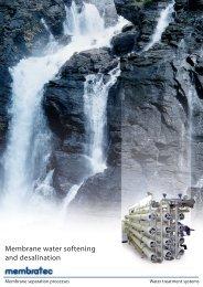 Membrane water softening and desalination - Membratec