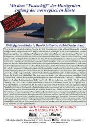 Nordkap - Blitz-Reisen HomePage