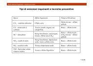 Tipi di emissioni inquinanti e tecniche preventive - TPG