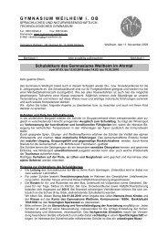 Merkblatt 1 - Für Schüler - Gymnasium Weilheim