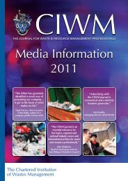 Media Information 2011 - Chartered Institution of Wastes Management