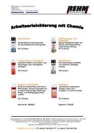 Menge REHM Bestell Nr. Bezeichnung - Rehm GmbH  u. Co KG