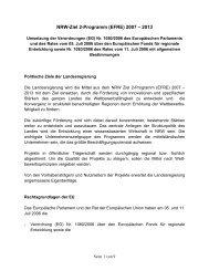 EFRE - NRW-EU Ziel 2-Programm 2000 - 2006