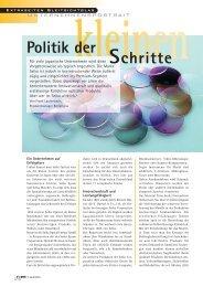 Politik der Schritte - SEIKO Optical Europe GmbH