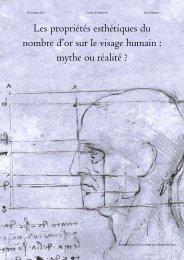 Les propriétés esthétiques du nombre d'or sur le visage humain ...