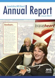 Annual Report 2006 - NHS Lanarkshire