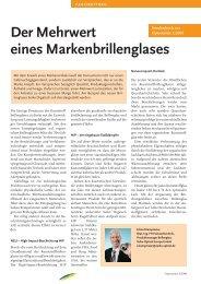 Der Mehrwert eines Markenbrillenglases - SEIKO Optical Europe ...