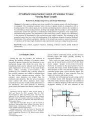A Feedback Linearization Control of Container Cranes ... - IJCAS