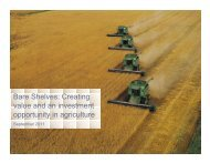 Creating value and an investment opportunity in agriculture - Sprott ...