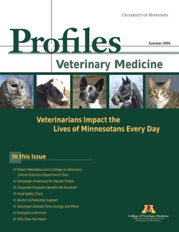 Summer 2004 - University of Minnesota College of Veterinary ...