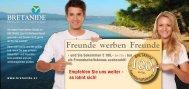 Freunde werben Freunde - Bretanide Sport & Wellness Resort