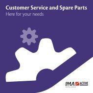 Customer Service and Spare Parts - IMA