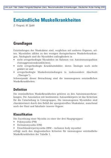 Dieter Pongratz/Stephan Zierz - Deutscher Ärzte-Verlag