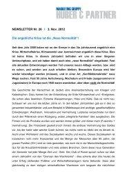 NEWSLETTER Nr. 26 I 3. Nov. 2012 Die angebliche ... - Walter Huber
