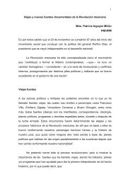 1 Viejas y nuevas fuentes documentales de la Revolución mexicana ...