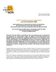 La 5ème Semaine du Son à Marseille - La Semaine du Son