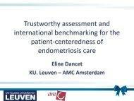 Trustworthy assessment and international benchmarking for ... - eshre