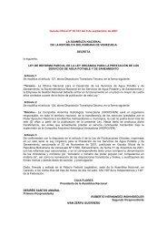 Ley Organica para la Prestacion de los Servicios de Agua