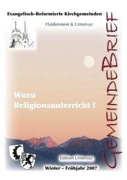 GB Uv 2007 - Reformierte Kirchgemeinde Untervaz