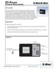P3 Pulser Specifications - E-Mon