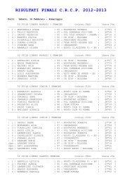 RISULTATI FINALI C.R.C.P. 2012-2013 - CSI Nuoto Ober Ferrari ASD