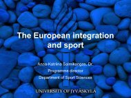 The European integration and sport - Koppa