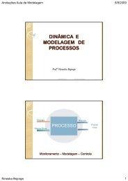 DINÂMICA E MODELAGEM DE PROCESSOS