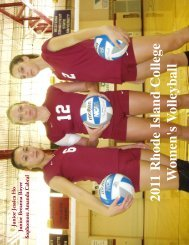 2011 Women's Volleyball Media Guide - Rhode Island College ...