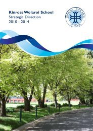 Kinross Wolaroi School Strategic Direction 2010 - 2014