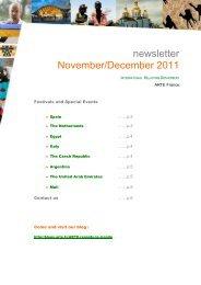 Newsletter November - December 2011 English - Arte