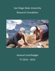 General Fund Budget - SDSU Research Foundation - San Diego ...