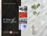 A Year o New Hope - Diabetes Research and Wellness Foundation