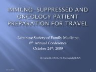 Immuno-suppressed and oncology patient preparation for ... - Lsfm.net