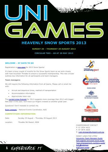 Circular 2 - Australian University Sport