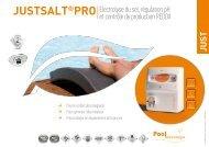 JUSTSALT®PRO Electrolyse du sel, régulation ... - Pool Technologie