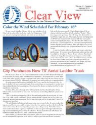 January 2013 Newsletter - City of Clear Lake