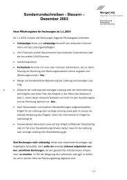 Sonderrunschreiben Dezember 2003 - Wengert Gruppe