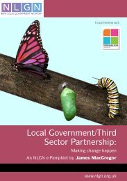 Local Government/Third Sector Partnership: - NHS North West ...