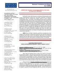 Workers' Compensation News - Margolis Edelstein