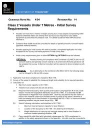 14 Class 2 Vessels Under 7 Metres - Initial Survey Requirements