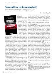 Pedagogikk og verdensanskuelse (I) - Antroposofisk Selskap i Norge