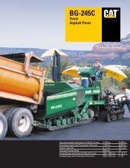 BG-245C Asphalt Paver - Kelly Tractor