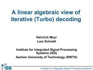A linear algebraic view of iterative (Turbo) decoding - ICE