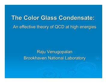 The Color Glass Condensate: