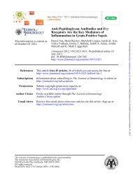 Anti-Peptidoglycan Antibodies and Fcγ Receptors Are the Key ...
