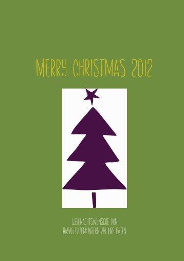Weihnachtswünsche der Patenkinder 2012 - Hayag