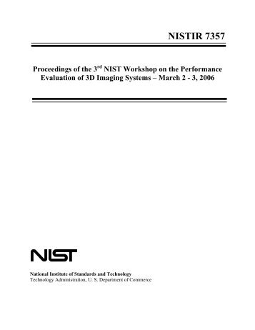 nistir 7357 - NIST Virtual Library - National Institute of Standards and ...