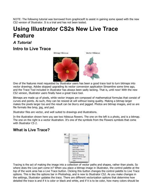 Using Illustrator CS2s New Live Trace Feature A Tutorial