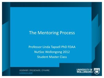 The Mentoring Process