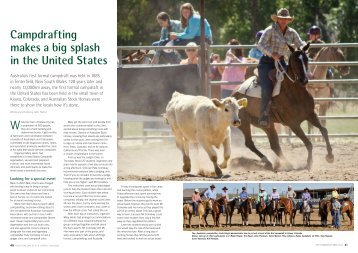 Campdrafting makes a big splash in the United States - Australian ...